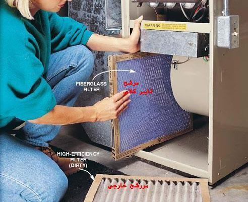 صيانة فرن التدفئة